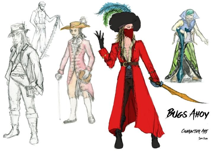 Bugs Ahoy - Sam Clay Characters